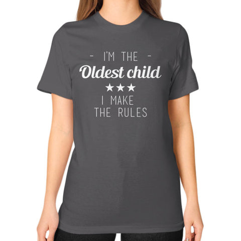 Oldest Child Unisex T-Shirt Asphalt BudapestCanoe.Com