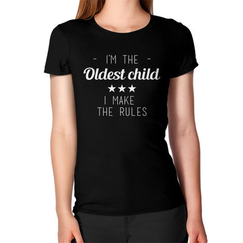 Oldest Child Women's T-Shirt Black BudapestCanoe.Com