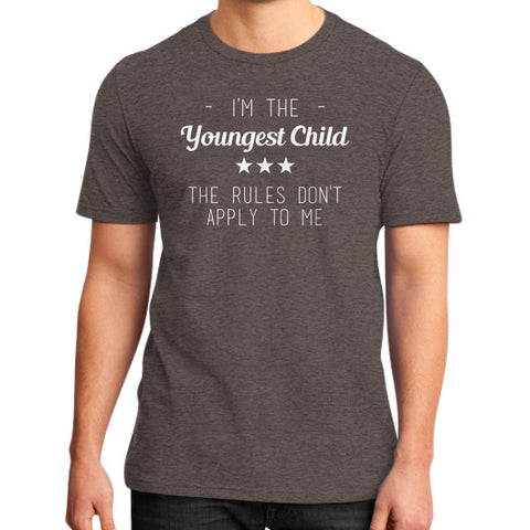 Youngest Child District T-Shirt Heather brown BudapestCanoe.Com