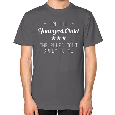 Youngest Child Unisex T-Shirt Asphalt BudapestCanoe.Com