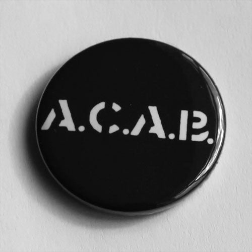4-Skins - A.C.A.B. (White) (Badge)