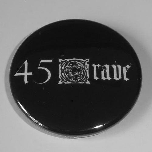 45 Grave - White Logo (Badge)