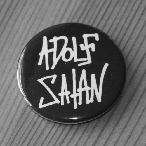 Adolf Satan - White Logo (Badge)