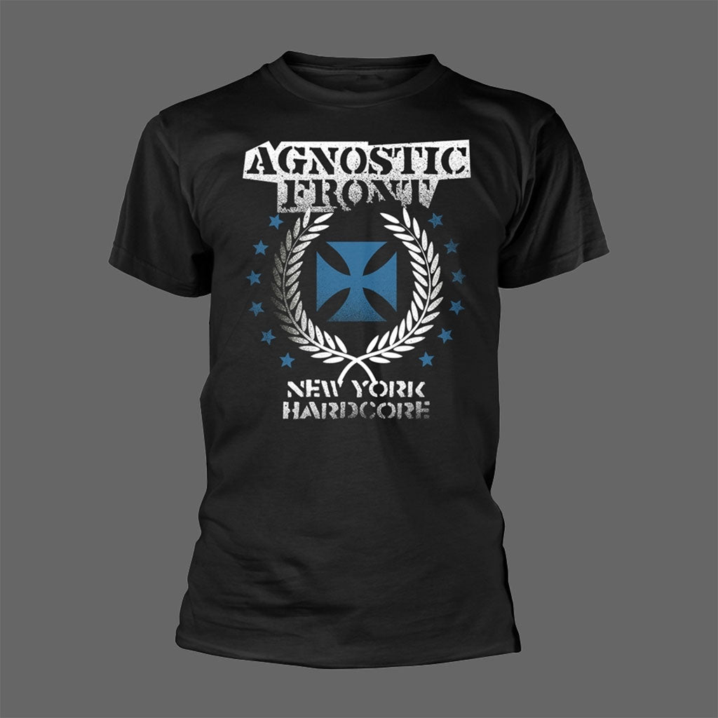 Agnostic Front - Blue Iron Cross (T-Shirt)