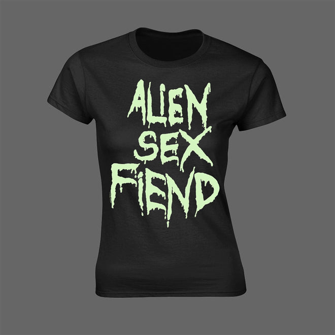Alien Sex Fiend - Logo (Glow) (Women's T-Shirt)
