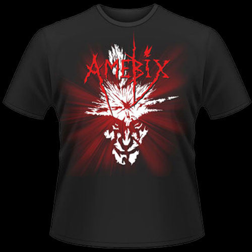 Amebix - Red Logo / Splat Head (T-Shirt)