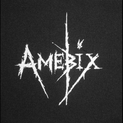 Amebix - White Logo (Leather) (Printed Patch)