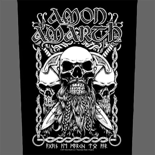 Amon Amarth - Bearded Skulls (Backpatch)