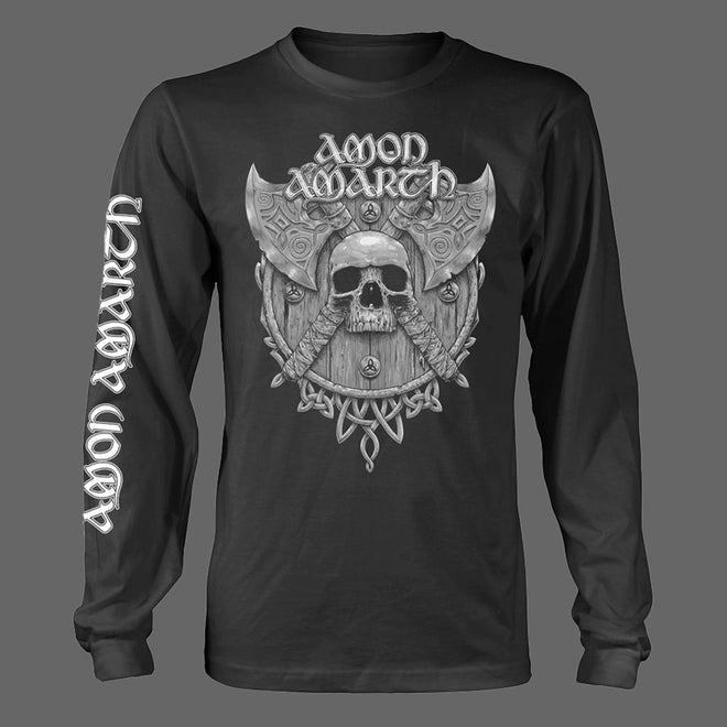 Amon Amarth - Grey Skull (Long Sleeve T-Shirt)