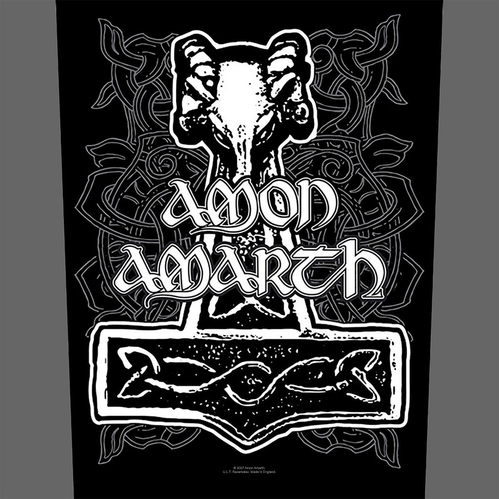 Amon Amarth - Logo & Mjolnir (Backpatch)