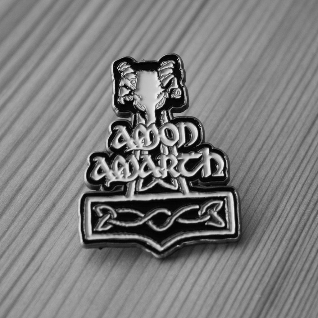 Amon Amarth - Logo & Mjolnir (Metal Pin)