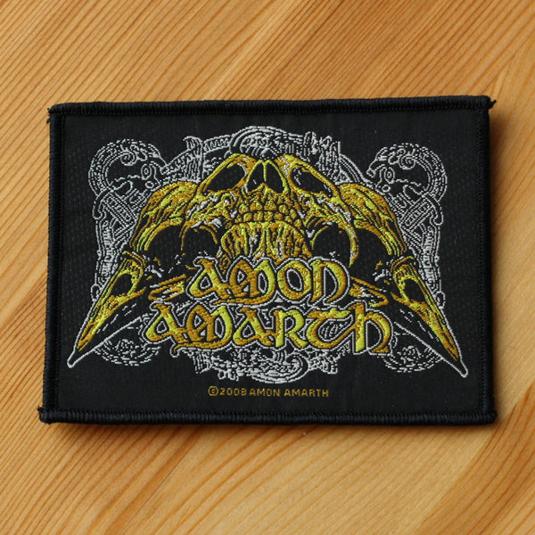 Amon Amarth - Logo & Raven Skull (Woven Patch)