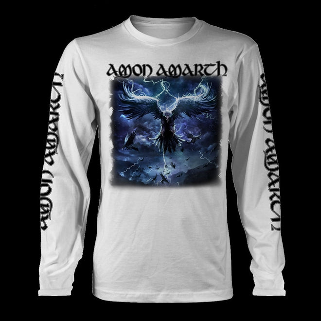 Amon Amarth - Raven's Flight (White) (Long Sleeve T-Shirt)