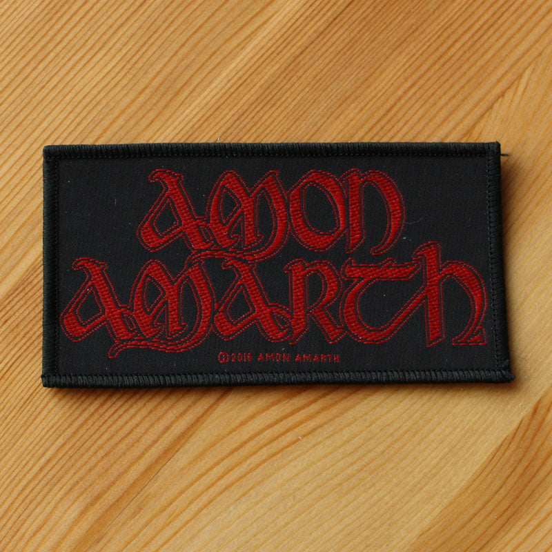 Amon Amarth - Red Logo (Woven Patch)