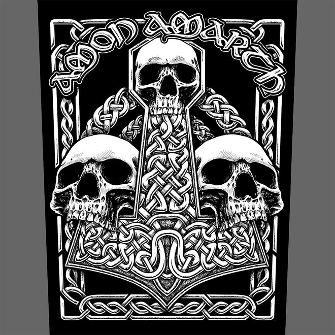 Amon Amarth - Three Skull Mjolnir (Backpatch)