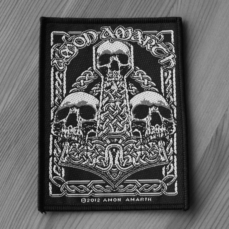 Amon Amarth - Three Skull Mjolnir (Woven Patch)