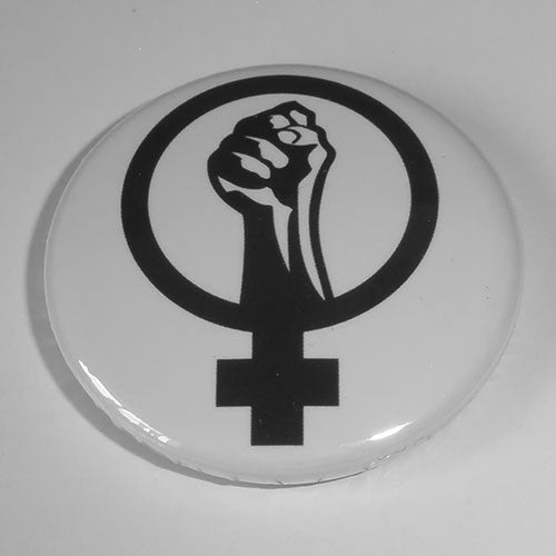 Anarcha-Feminism Symbol (Black) (Badge)