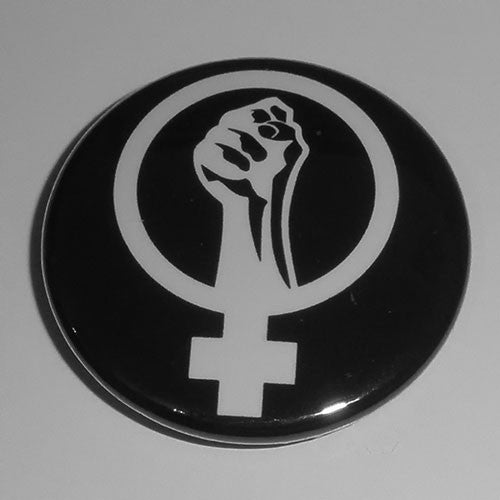 Anarcha-Feminism Symbol (White) (Badge)