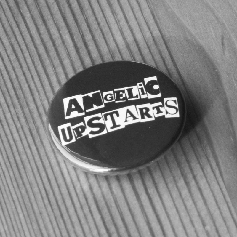 Angelic Upstarts - White Logo (Badge)