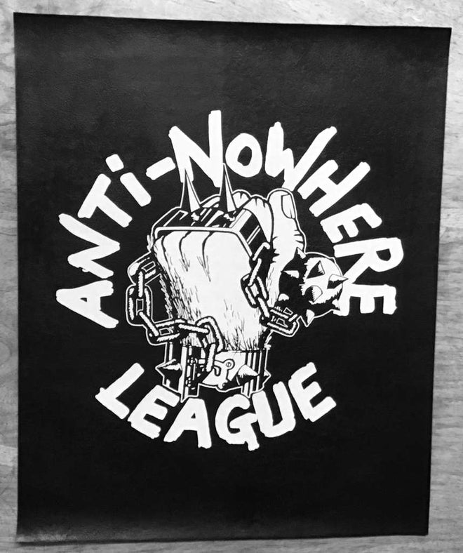 Anti-Nowhere League - Logo (Leather) (Backpatch)