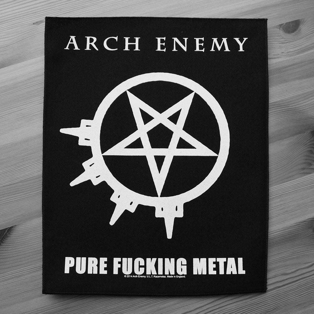 Arch Enemy - Pure Fucking Metal (Backpatch)