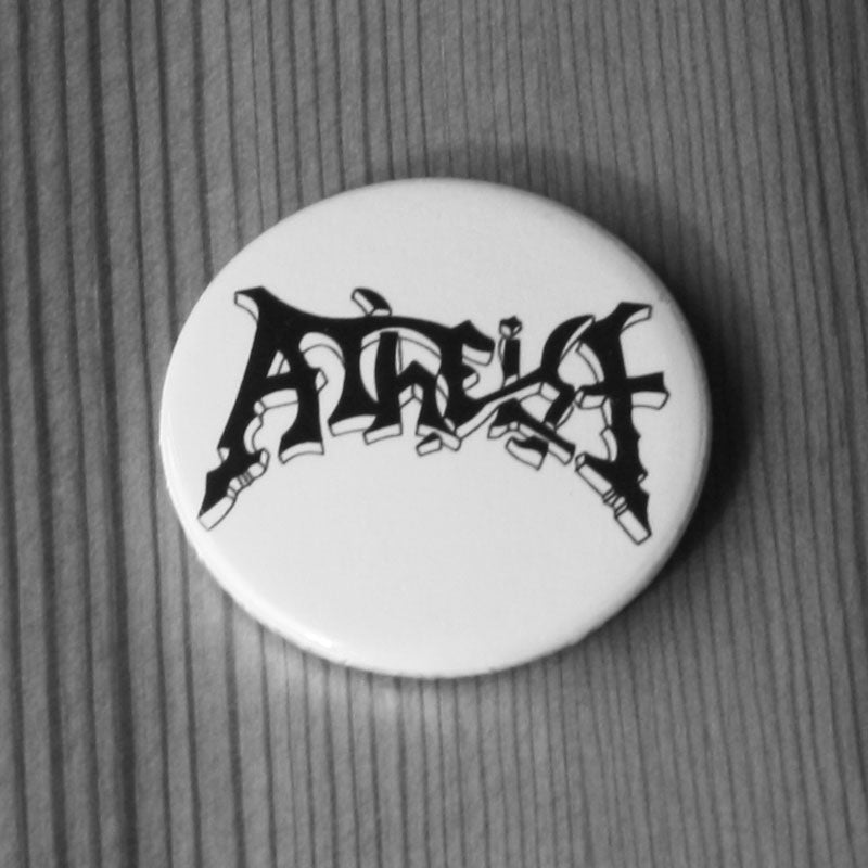 Atheist - Black Logo (Badge)