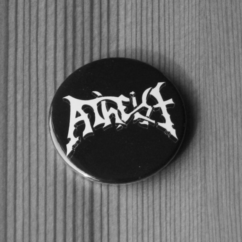 Atheist - White Logo (Badge)