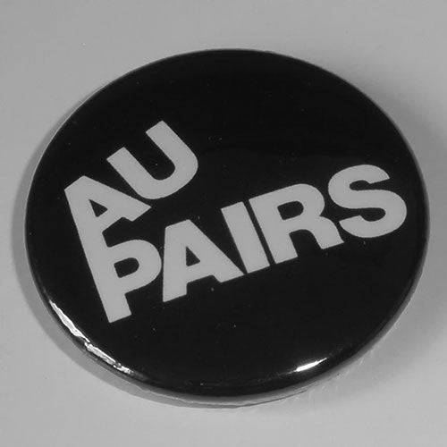 Au Pairs - White Logo (Badge)