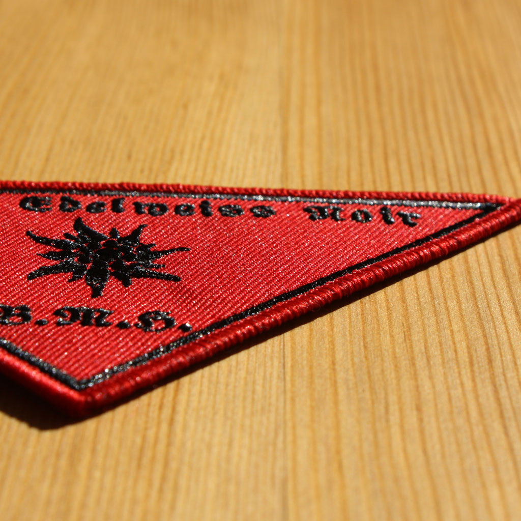 Baise Ma Hache - Division Edelweiss Noir (Embroidered Patch)