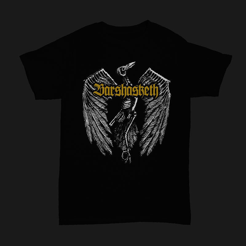 Barshasketh - Crow (Gold Logo) (T-Shirt)