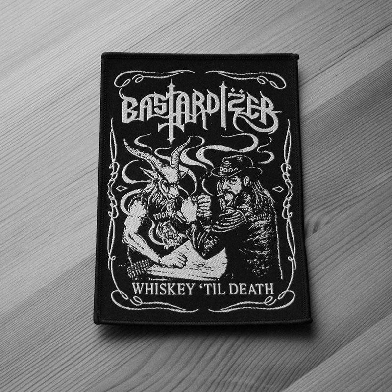 Bastardizer - Whiskey til Death (Woven Patch)