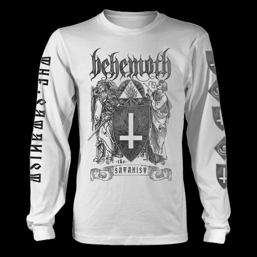 Behemoth - The Satanist (White) (Long Sleeve T-Shirt)