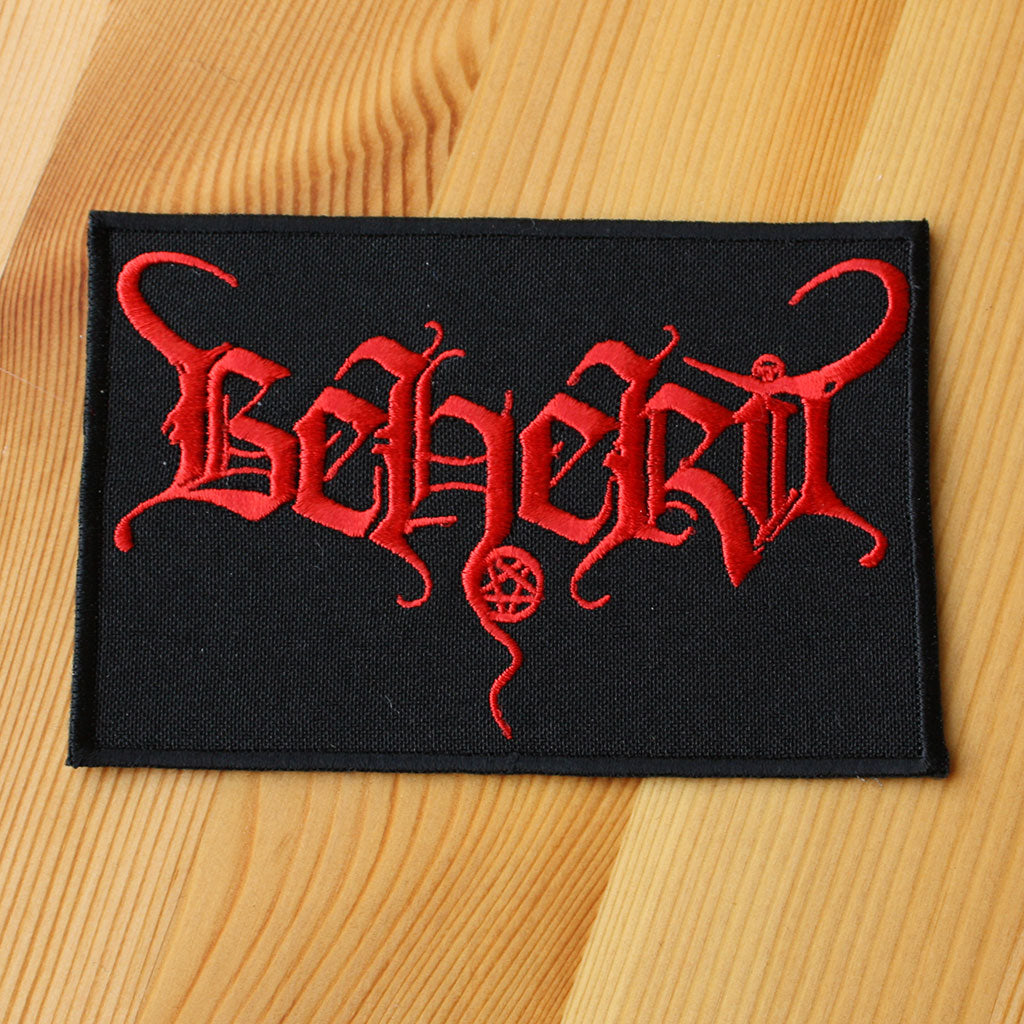 Beherit - Red Logo (Embroidered Patch)