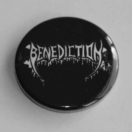 Benediction - White Logo (Badge)