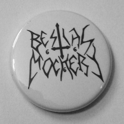 Bestial Mockery - Black Logo (Badge)
