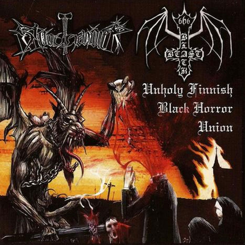Black Beast / Bloodhammer - Unholy Finnish Black Horror Union (CD)