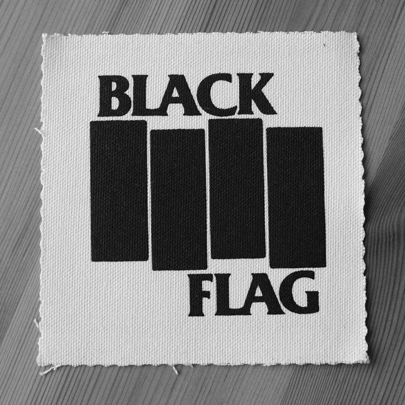 Black Flag - Black Logo (Printed Patch)