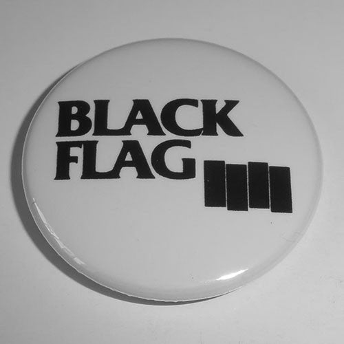 Black Flag - Black Logo (Small Bars) (Badge)