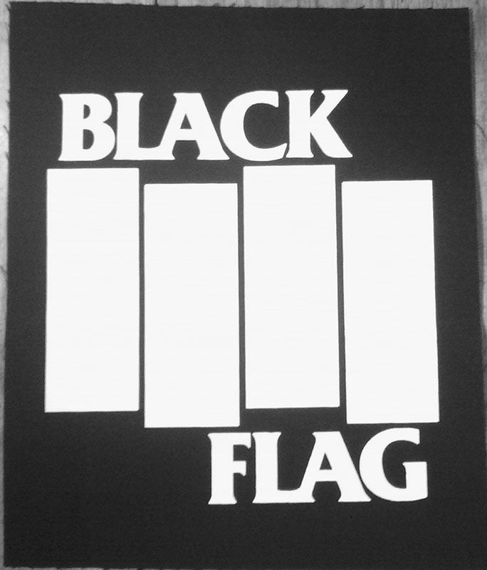 Black Flag - White Logo (Backpatch)