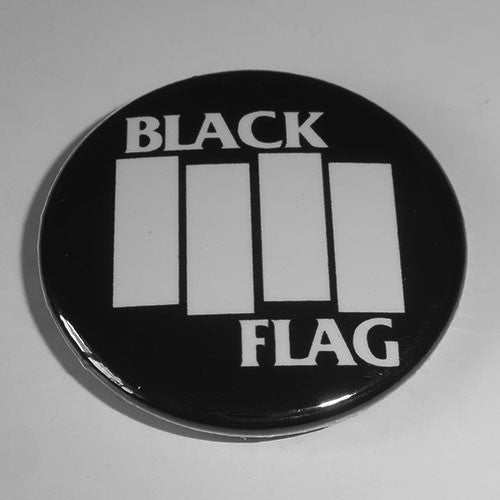 Black Flag - White Logo (Badge)
