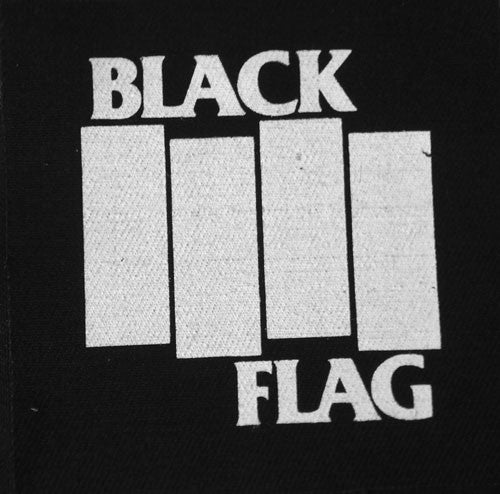 Black Flag - White Logo (Printed Patch)