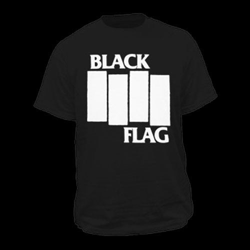 Black Flag - White Logo (T-Shirt)