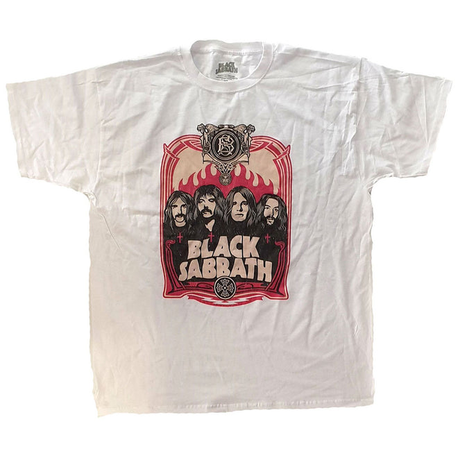 Black Sabbath - Faces (White) (T-Shirt)