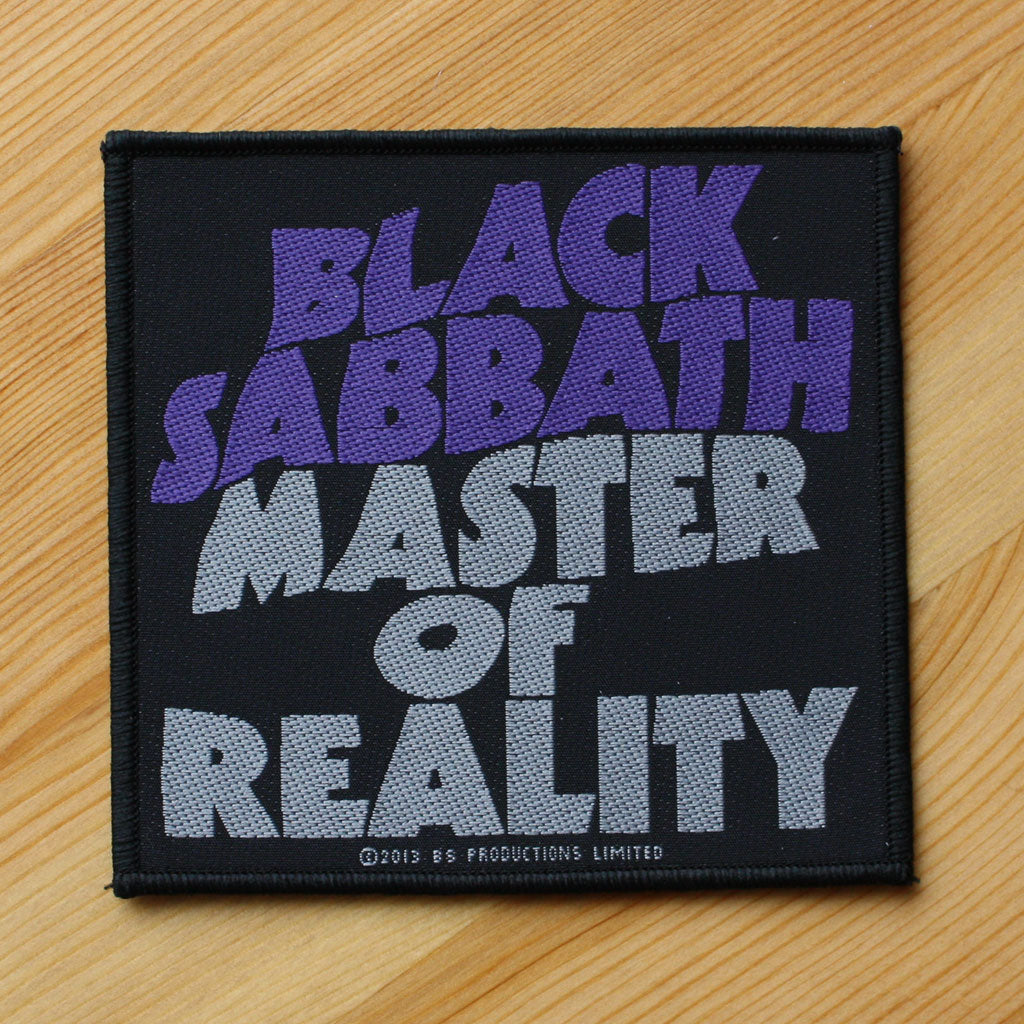 Black Sabbath - Master of Reality (Woven Patch)
