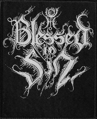 Blessed in Sin - White Logo (Woven Patch)