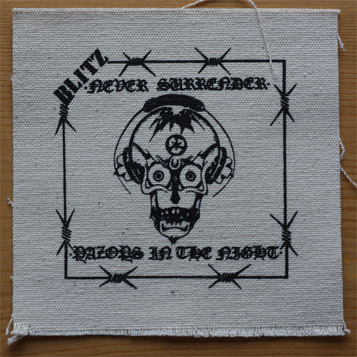 Blitz - Never Surrender / Razors in the Night (Printed Patch)