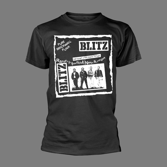 Blitz - Pure Brickwall Punk (Black) (T-Shirt)