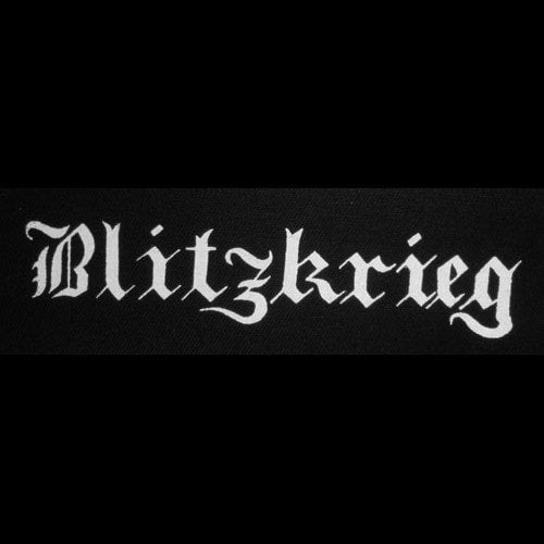 Blitzkrieg - White Logo (Printed Patch)