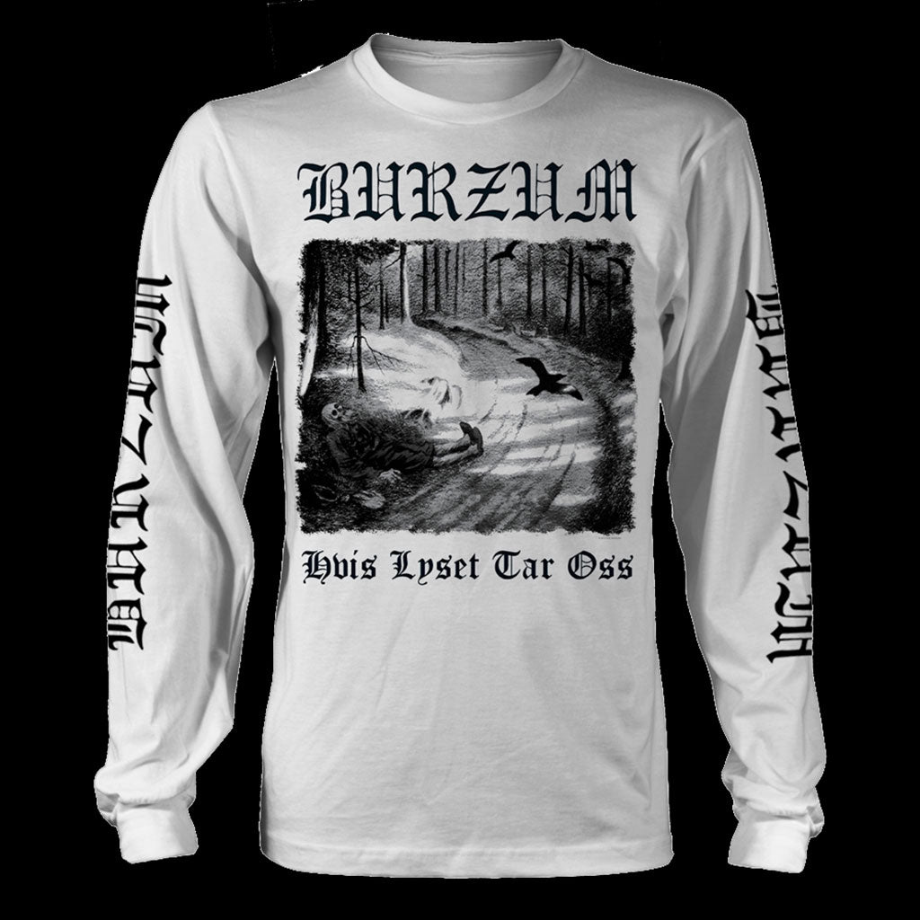 Burzum - Hvis lyset tar oss (White) (Long Sleeve T-Shirt)