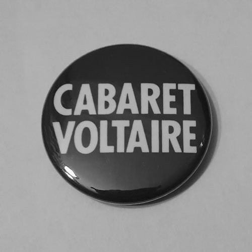 Cabaret Voltaire - White Logo (Badge)